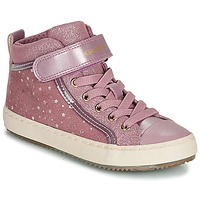 Shoes Girl Hi top trainers Geox J KALISPERA GIRL Pink