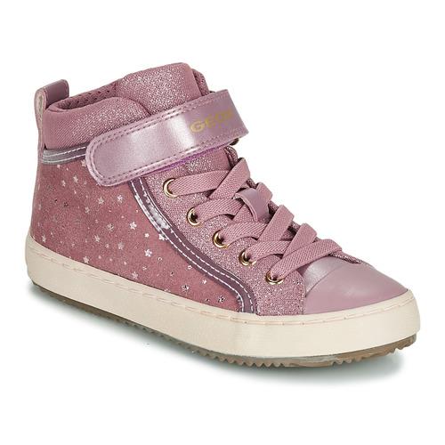 Shoes Girl Hi top trainers Geox J KALISPERA GIRL Pink