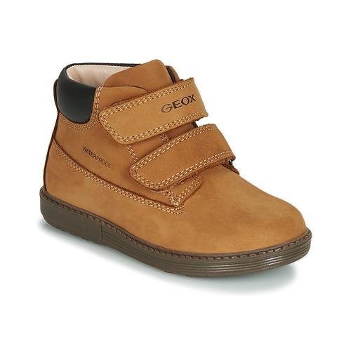Shoes Boy Hi top trainers Geox B HYNDE BOY WPF Brown