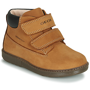 Shoes Boy Hi top trainers Geox B HYNDE BOY WPF Brown