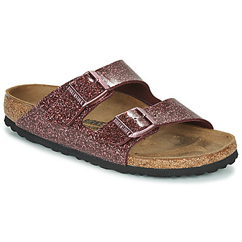 Shoes Women Mules Birkenstock Arizona Red / Glitter