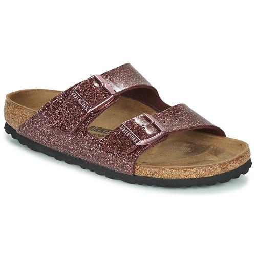 Shoes Women Mules Birkenstock Arizona Red / Glitter