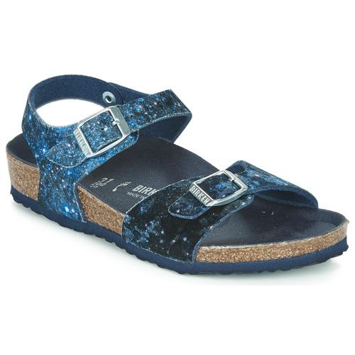 Shoes Girl Sandals Birkenstock Rio Navy / Glitter
