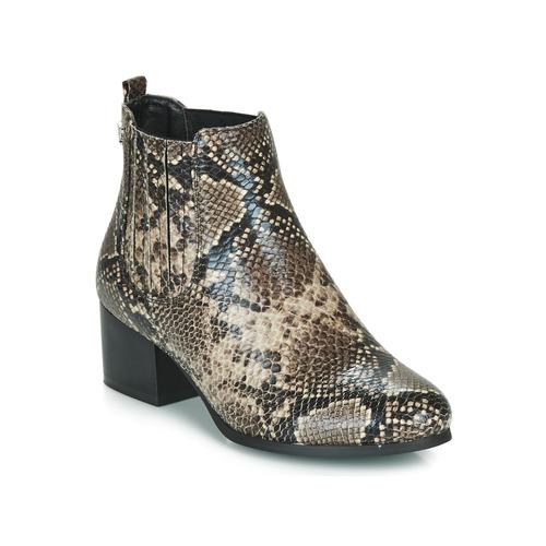Shoes Women Ankle boots Les Petites Bombes CHIRAZ Brown