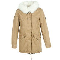Clothing Women Parkas Superdry FALCON ROOKIE PARKA Camel