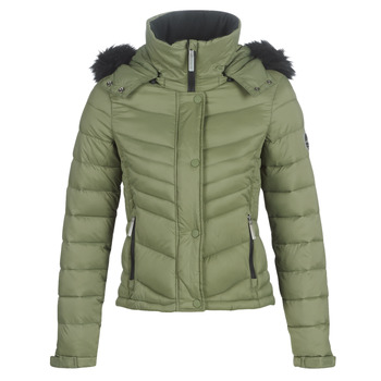 Clothing Women Duffel coats Superdry FUJI SLIM 3 IN 1 JACKET Kaki