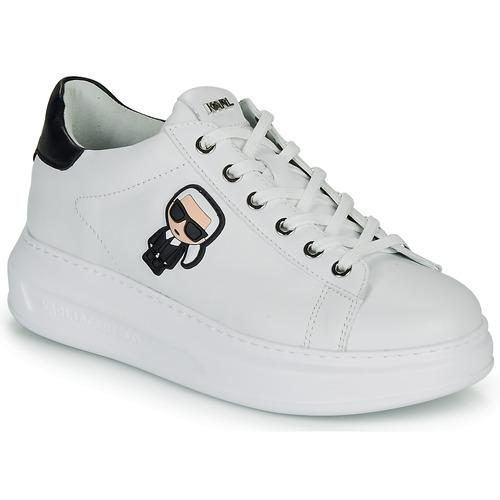 Shoes Women Low top trainers Karl Lagerfeld KAPRI KARL IKONIC LO LACE White / Black