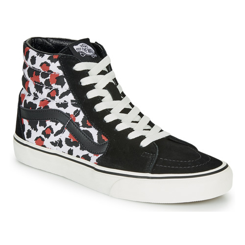 Shoes Women Hi top trainers Vans SK8-Hi  black / Leopard
