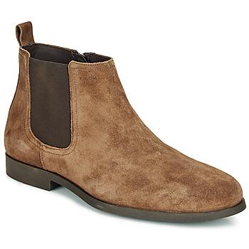 Shoes Men Mid boots Geox U KASPAR C Brown