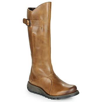 Shoes Women High boots Fly London MOL 2 Camel