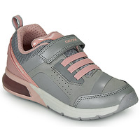 Shoes Girl Low top trainers Geox J SPACECLUB GIRL C Grey / Pink