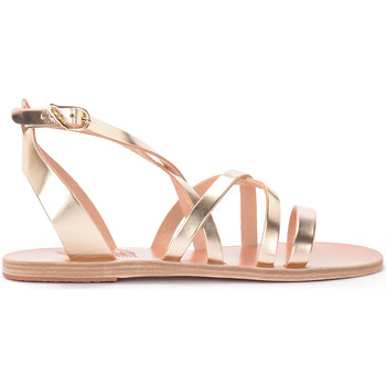 Shoes Women Sandals Ancient Greek Sandals Delia leather thong sandal PLATINO