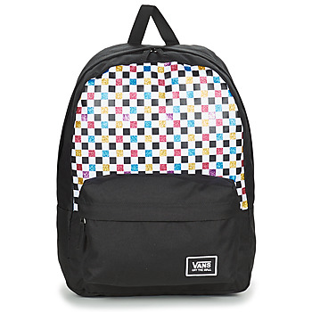 Bags Women Rucksacks Vans GLITTER CHECK REALM Black / Multicoloured
