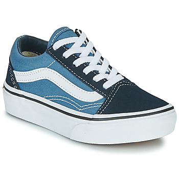 Shoes Children Low top trainers Vans UY OLD SKOOL Marine / White