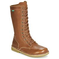 Shoes Women High boots Kickers MEETKIKNEW Camel