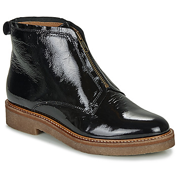 Shoes Women Mid boots Kickers OXFORDOZIP Black / Patent