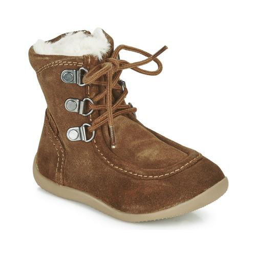 Shoes Children High boots Kickers BAMARA Camel