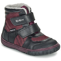 Shoes Children Snow boots Kickers SITROUILLE WPF Black / Purple