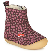 Shoes Girl High boots Kickers SOCOOL Bordeaux