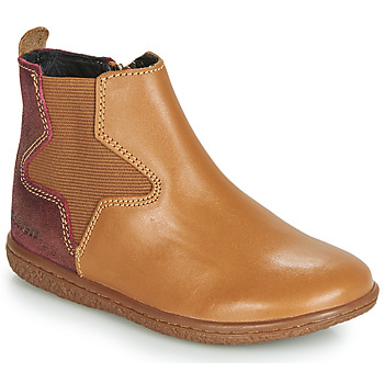Shoes Girl Mid boots Kickers VERMILLON Camel