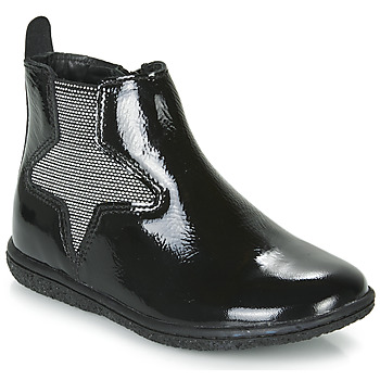 Shoes Girl Mid boots Kickers VERMILLON Black