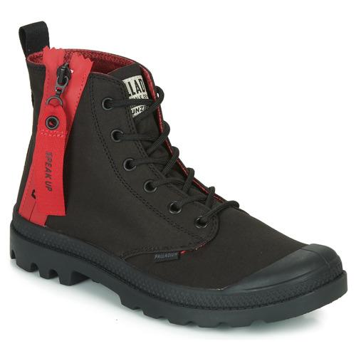 Shoes Hi top trainers Palladium PAMPA UNZIPPED Black