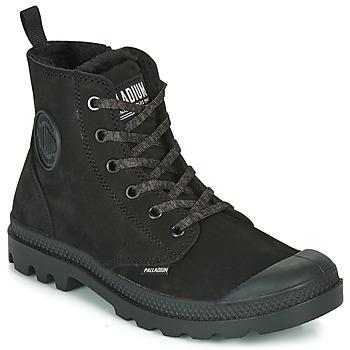Shoes Women Mid boots Palladium PAMPA HI ZIP WL Black