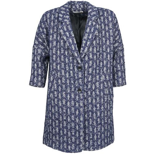 Clothing Women coats See U Soon RIFFLE Blue / White