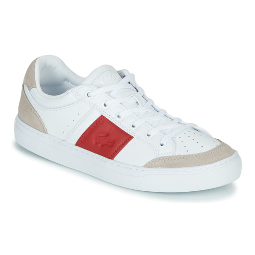 Shoes Women Low top trainers Lacoste COURTLINE 319 1 US CFA White / Red