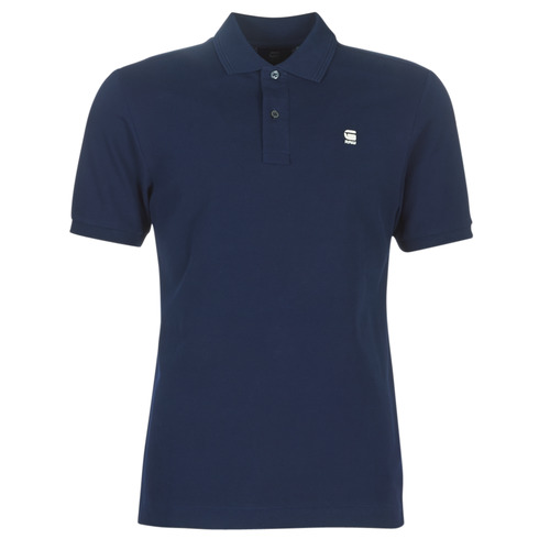 Clothing Men short-sleeved polo shirts G-Star Raw DUNDA SLIM POLO Blue