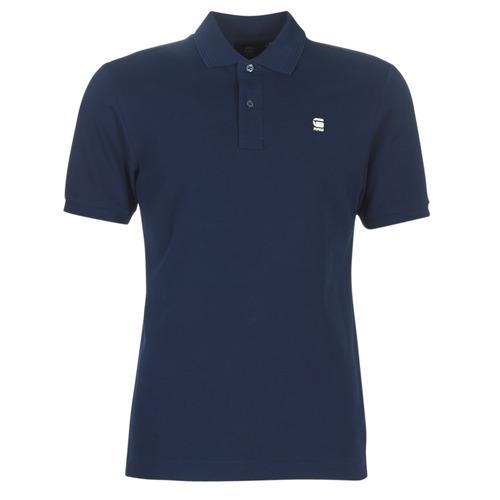 Clothing Men Short-sleeved polo shirts G-Star Raw DUNDA SLIM POLO Blue