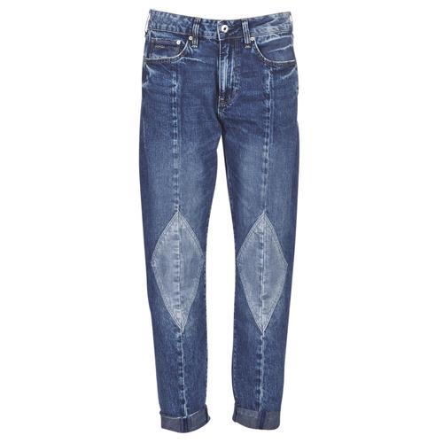 Clothing Women Boyfriend jeans G-Star Raw 3301-L MID BOYFRIEND DIAMOND Blue / Light / Vintage / Aged