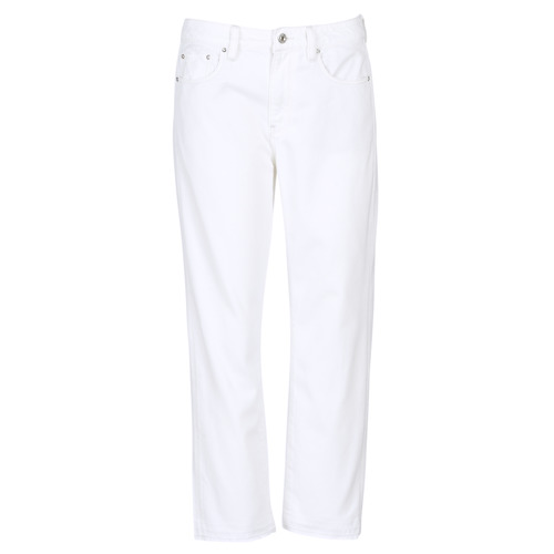 Clothing Women Boyfriend jeans G-Star Raw 3301 MID BOYFRIEND 7/8 White
