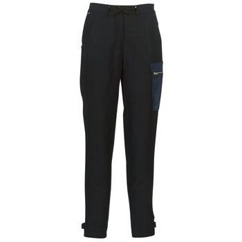 Clothing Women Cargo trousers G-Star Raw FELDSPAR HIGH STRAIGHT CARGO Marine