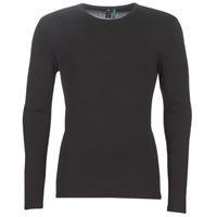 Clothing Men Long sleeved tee-shirts G-Star Raw BASE TEE Black