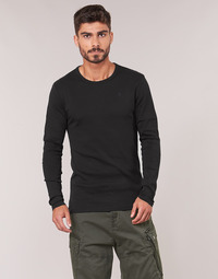 Clothing Men Long sleeved tee-shirts G-Star Raw BASE TEE Black