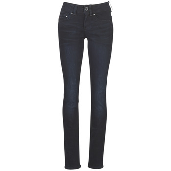 Clothing Women straight jeans G-Star Raw MIDGE MID STRAIGHT WMN Blue / Dark / Aged