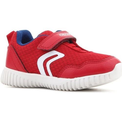 Shoes Children Low top trainers Geox B Waviness B.B B822BB 014BU C7213 red