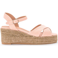 Shoes Women Espadrilles Castaner Blaudell pink canvas wedge sandal Pink