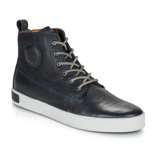 Shoes Men Hi top trainers Blackstone AM02 Marine