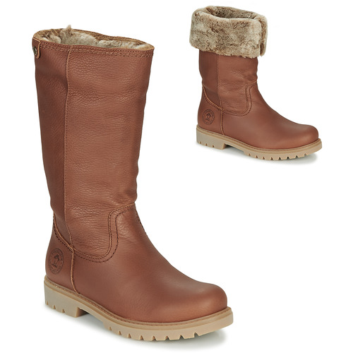 Shoes Women High boots Panama Jack BAMBINA Brown