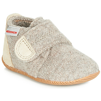 Shoes Children Slippers Giesswein OBERSTAUFFEN Beige