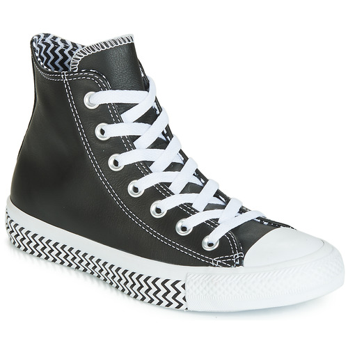 Shoes Women Hi top trainers Converse CHUCK TAYLOR ALL STAR VLTG LEATHER HI Black
