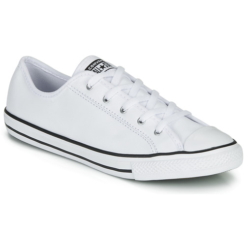 Shoes Women Low top trainers Converse CHUCK TAYLOR ALL STAR DAINTY GS  LEATHER OX White