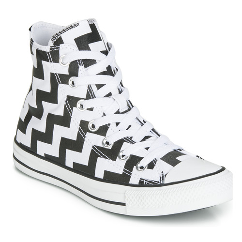 Shoes Women Hi top trainers Converse CHUCK TAYLOR ALL STAR GLAM DUNK CANVAS HI Black / White