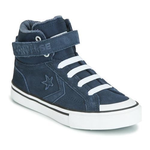Shoes Children Hi top trainers Converse PRO BLAZE STRAP SPACE RIDE SUEDE HI Blue