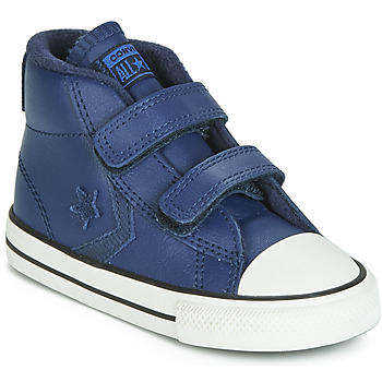 Shoes Children Hi top trainers Converse STAR PLAYER 2V ASTEROID LEATHER HI Blue