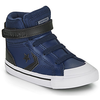 Shoes Children Hi top trainers Converse PRO BLAZE STRAP MARTIAN LEATHER HI Blue / Black