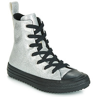 Shoes Girl Hi top trainers Converse CHUCK TAYLOR ALL STAR BOOT COATED GLITTER  HI Silver