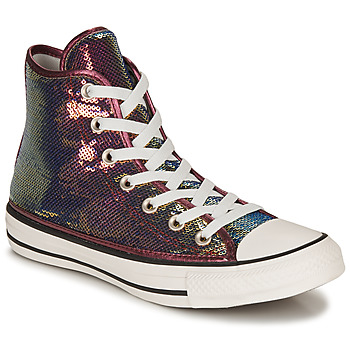 Shoes Women Hi top trainers Converse CHUCK TAYLOR ALL STAR MINISEQUINS HI Pink / Silver